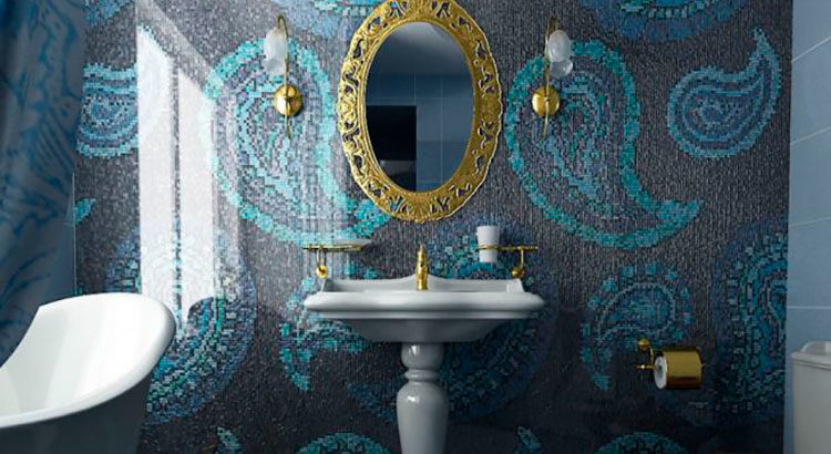 Зеркало в интерьере ванной комнаты