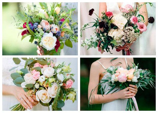 Формы свадебных букетов